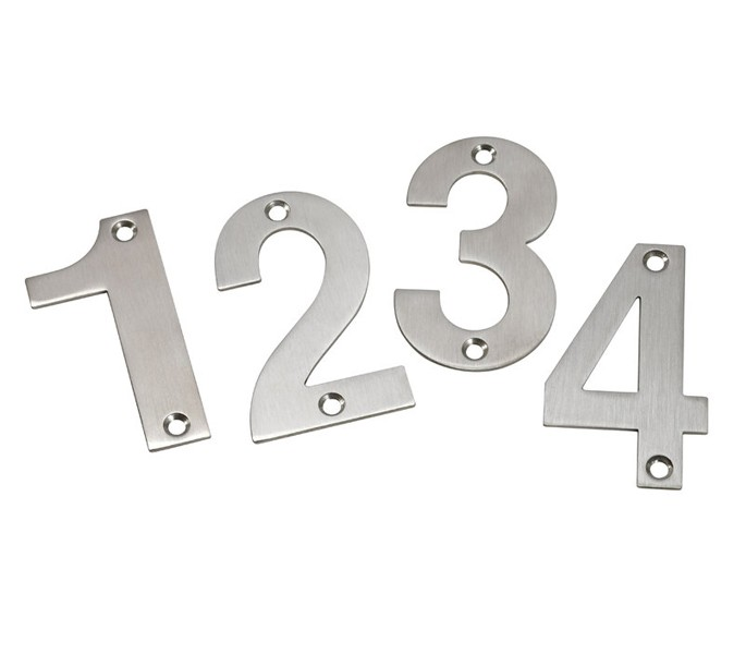 More Views  sc 1 st  Handle King Ireland & Front Door Numbers 3 Inch Brushed Stainless Steel Door Numbers 0-9 ...