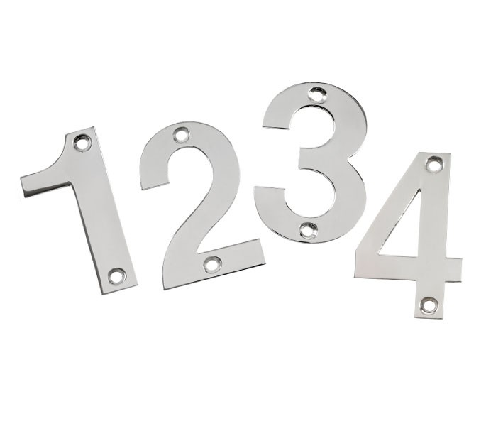 Front Door Numbers Inch Polished Stainless Steel Door Numbers - 10 inch metal house numbers