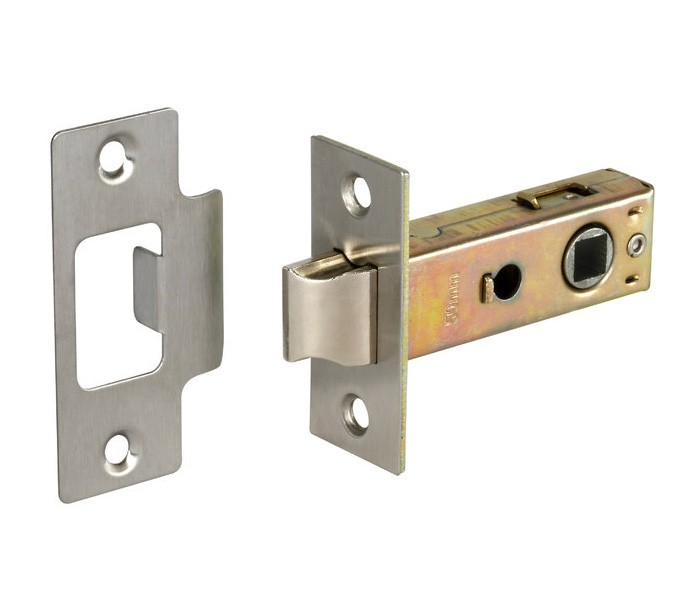Mortice Door Latches With Brushed Chrome Finish 76mm Overall