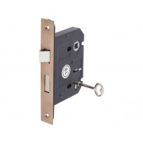 3 Lever Mortice Lock in Copper Finish 76mm / 57mm Backset