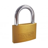 40mm Brass Padlock with Hardened Steel Shackle and 3 Keys