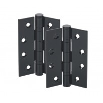 4 Inch Black Door Hinges - Ball Bearing Hinge Pair