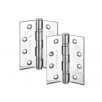 4 Inch Door Hinges in Polished Chrome Fire Rated For Internal Doors