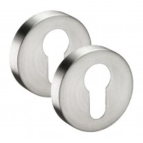 Euro Escutcheon Pair in Satin Stainless Steel 10mm A8510S
