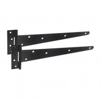 Tee Hinges for Garden Gates and Sheds with Black Epoxy Finish 450mm H0218TB