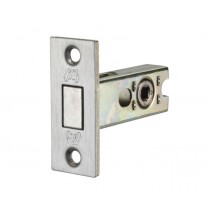Bathroom Deadbolt Lock in Brushed Chrome - 76mm / 57mm Backset