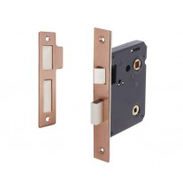 Bathroom Door Lock in Copper 76mm / 57mm Backset