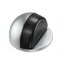 Chrome Floor Mounted Door Stop with Concealed Fixings and Rubber Buffer