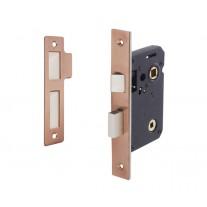 Copper Mortice Bathroom Lock with 45mm Backset