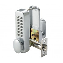 Digital Door Lock with Mechanical Push Buttons and Holdback