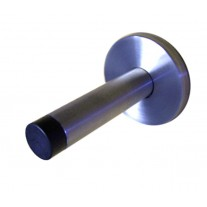 Door Stop with Brushed Stainless Steel Finish and Concealed Fixing Rose