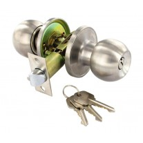 Entrance Door Knobs in Stainless Steel for Locking Doors