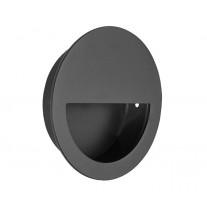 Flush Half Moon Matte Black Pull Handle 90mm X88110BL