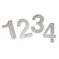 Front Door Numbers 3 Inch Brushed Stainless Steel Door Numbers 0-9