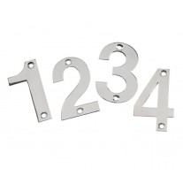 Front Door Numbers in Polished Stainless Steel