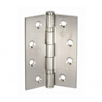 Heavy Duty Hinges for Doors - 4 Inch / 100mm CE Stamped Brushed Stainless Steel Ball Bearing Door Hinges