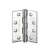 Heavy Duty Hinges for Doors - 4 Inch / 100mm CE Stamped Polished Stainless Steel Ball Bearing Door Hinges