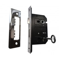 Internal Door Locks 3 Lever Sash Lock - 63mm / 45mm Backset