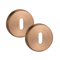 Keyhole Cover Plate Escutcheon Pair in Satin Copper 10mm A8310SCU