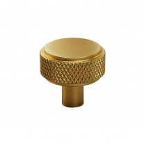 Knurled Drawer Knobs in Luxury Satin Brass Finish X88021SB
