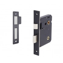 Matte Black Bathroom Lock 76mm / 57mm Backset