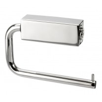 Modern Toilet Roll Holder in Polished Stainless Steel Finish