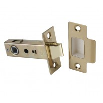 Mortice Latch with Polished Brass Finish - 76mm / 57mm Backset
