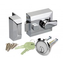 Narrow Nightlatch with Polished Chrome Finish L20140PC