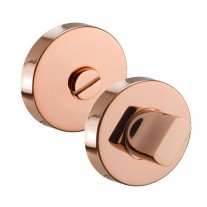 Polished Copper Thumb Turn Lock with Emergency Release