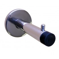 Polished Stainless Steel Coat Hooks with 90mm Cylindrical Buffer