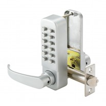Digital Door Lock with Lever and Satin Finish SBL330/SL