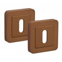 Square Escutcheon Plates with Satin Brass Finish