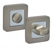 Square Thumb Turn & Release with Duo Satin Chrome Finish