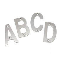 Stainless Steel Door Letters 3 Inch Brushed Stainless Steel Letters A-D