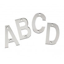 Stainless Steel Door Letters 3 Inch Polished Stainless Steel Letters A-D