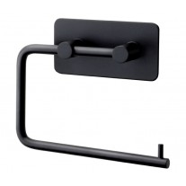 Stick on Toilet Roll Holder in Matte Black T602BL