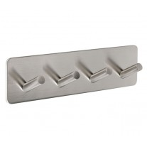 Stick on Hooks with Brushed Stainless Steel Finish for Robes and Towels