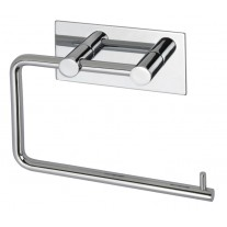 Stick on Toilet Roll Holder with Polished Stainless Steel Finish and Stick on Backplate