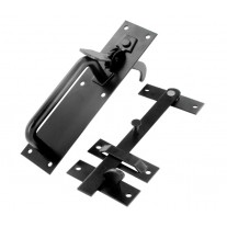 Suffolk Latch for Garden Gates with Epoxy Black Finish 180mm