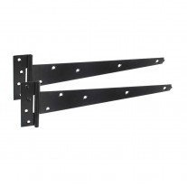 Tee Hinges for Garden Gates and Sheds with Black Epoxy Finish 450mm