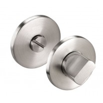 Thumb Turn Lock for Bathroom Door Locks in Brushed Stainless Steel Finish Rose 52mm
