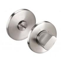 Thumb Turn Lock for Bathroom Door Locks in Brushed Stainless Steel Finish Rose 52mm