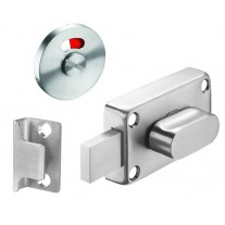 Toilet Cubicle Locks with Indicator and Brushed Stainless Steel Finish
