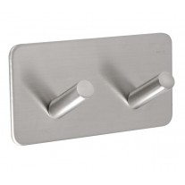 Towel Hooks for Bathrooms with Brushed Stainless Steel Hooks on Stick on Backplate for Towels
