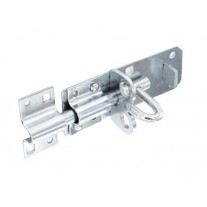 Zinc Gate Bolt 100mm with Integrated Padlock Security