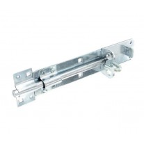Zinc Heavy Duty Gate Bolt 200mm with Integrated Padlock Security