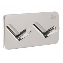 Stick on Bathroom Robe Hooks in Polished Stainless Steel