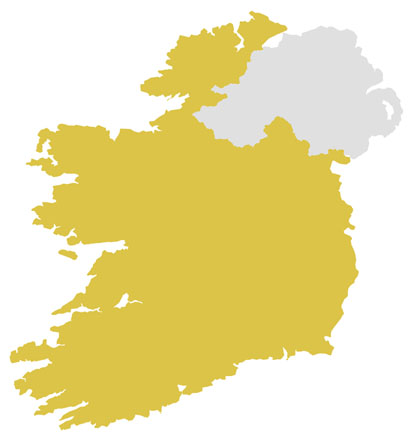 Republic of Ireland Delivery Map